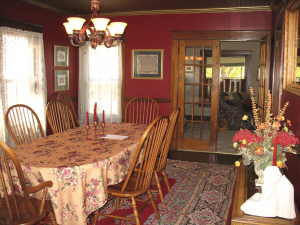 French Doors Open Into The Dining Room, Which Features A Faux Tin Ceiling  Installed By The Current Owner, And Quartersawn Oak Flooring. The Tell City  ... Part 92